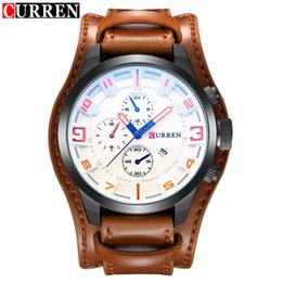 Wholesale Current Watches - CURRENT Top Brand Luxury Mens Watch Men Watches Male Casual Quartz Wrist Watch Leather Military Waterproof Clocks Sport Clock