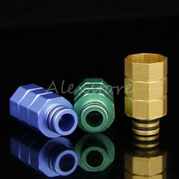 Wholesale Octagon Atomizer - 30pcs Octagon Drip Tips Aluminum Drip Tip Colorful Wide Bore DripTip for 510 thread RDA RBA Atomizer Mouthpieces Ecig Vape 2016 E cig
