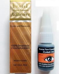 Wholesale Eyelashes Extension Adhesive - Free Shipping! New 15ml false eyelashes smelless glue eye lashes extension Adhesive (1pc)