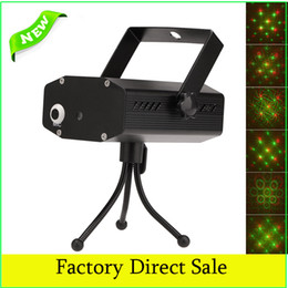 Wholesale Tripods For Strobe Lights - Wholesale-Voice-control Auto Strobe 3-Mode Stage Laser Effect LED Projector 110V-240V with Tripod Adapter for Disco KTV Bar Party Light