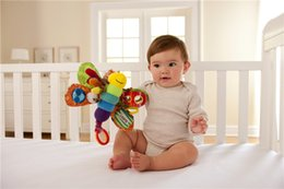 Wholesale Baby Toy Doll Stroller - 9inch Lamaze Toy Butterfly Crib toys with rattle teether Infant Early Development Toy stroller music Baby doll toy B11