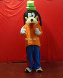 Wholesale Mascot Dog Costume Sale - goofy dog orange adult size hot sale, free ship , Mascot Costume, cartoon , Halloween dress