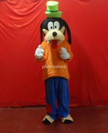 Wholesale Hot Dog Mascot Costumes - goofy dog orange adult size hot sale, free ship , Mascot Costume, cartoon , Halloween dress