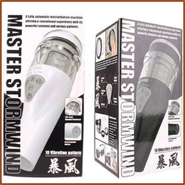 Wholesale Sex Masturbation Flashlight - UTOO STORMWIND fully automatic masturbation machine male Masturbators Rotation flashlight sex toys for man