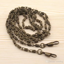 "Wholesale Antique Chain Purse - Wholesale-20pcs 120CM  47"" long Metal Chain for Purses Bags DIY, Antique Brass bronze ,Hight Quality Purse Accessory ,Freeshipping"