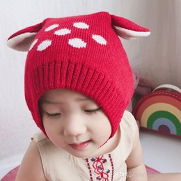 Wholesale Boys Toddler Fitted Caps - Fashion Autumn Winter Warm Cotton Baby Hat Girl Boy Toddler Infant Kids Caps Brand Candy Color Cute Baby Accessories for 6-24M