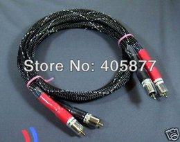 Wholesale Rca Interconnect - Pair OFC Hi-End Audio RCA Cable 1.5m hifi audio interconnect cable