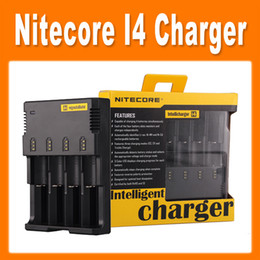 Wholesale charger toy - Nitecore I4 Charger Universal Charger for 18650 16350 26650 10440 AA AAA 14500 Battery Nitecore Battery Charger fot toy e cig others 0205007