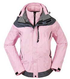 Wholesale Waterproof Wind Proof Winter Jacket - Wholesale-New women winter water proof wind proof outdoor sports jacket lady's cold proof coat ski snowboard jacket 2 layers removable