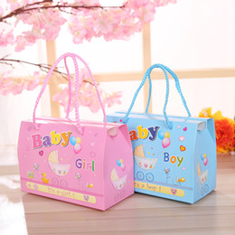 Wholesale Paper Gift For Boys - Baby Shower Candy Box Cute Handle Gift Bag Paper for Birthday Decorations Boys Girls Party Event Party Supplies ZA5182
