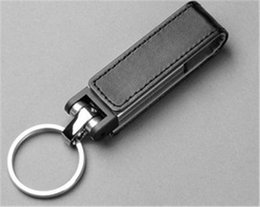 Wholesale Usb Drive Memory 32gb Leather - 2015 Leather Key chains memory stick 16GB 32GB 64GB USB 2.0 Flash Drive For Smart Phone tablet PC for Christmas Hallowen