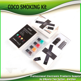 Wholesale coco wholesale - COCO SMOKING 220mAh Ultra Portable Vape Pen Starter Kit For Vapor Pod Cartridge Vaporizer Kits Free DHL Fedex