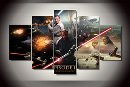review-review with best reviews - 5Pcs With Framed Printed star wars episode Painting on canvas room decoration print poster picture canvas Free shipping elephant painting