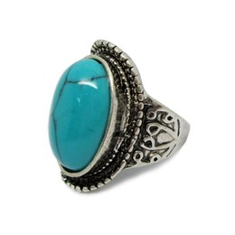 Wholesale Coral Turquoise Rings - Southwest Coral and Turquoise Rings Inlay Fashion Women's Ring Size 8 New Arrival Fast Shipping Three Colors Available