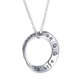 Wholesale Memory Life - hot sale Christmas Day Gift life Forever in My Heart Memory Necklace Alphabet Letter Charms Pendant necklace