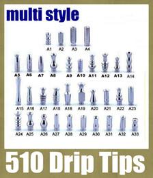 Atomizzatore a goccia online-Drip Tips 510 Bocchino multiuso Drip Tip per RDA atomizzatore ego clearomizer E Cigarette Drip tips acciaio inox e cig drip tip FJ089