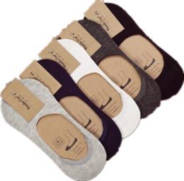 10 шт. = 5 пар новый хлопок мужчины невидимые носки Мужские носки силиконовые противоскользящие, чистый цвет летние носки от