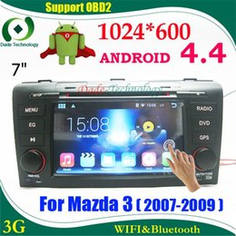 Wholesale Capacitive Android Double Din - Double din touch screen car stereo Android 4.4 HD 1024*600 Capacitive screen car radio android for Mazda 3 M3 2din car gps