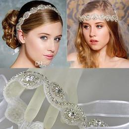 Wholesale Tiaras Hair Jewelery - 2015 Vintage Bridal Crown Tiara Wedding Jewelery Bohemia Hair Accessories Elegant Headpieces Frontlet Hair Band headbands for Bridal