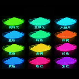 Wholesale Wholesale Glow Paint - Free Ship Red Yellow Green Blue Purple Pink Color luminous powder neon powder luminous paint glowing powder DIY glowing