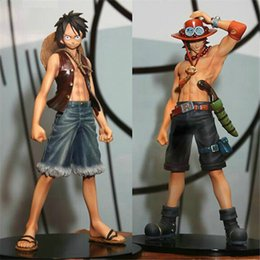 Wholesale Anime One Piece Figures Set - Japaness Action Figure One Piece Pvc Anime Monkey.D.Luffy Portagas D Ace Figure Set Action Figure One Piece Luffy Toys Gifts