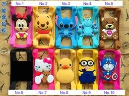 Wholesale Iphone Cases Character - Wholesale Universal Silicone Bumper Frame Cartoon Character Case Lovely Animal Bumpers for iPhone 6s Samsung s6 Note5 HTC LG Sony Nokia