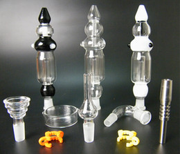 2019 cajas de tuberías de agua Colectores de néctar nuevo diseño dos funciones 14 mm colector nector plataformas petrolíferas tubo de agua de vidrio bong con estuche rebajas cajas de tuberías de agua