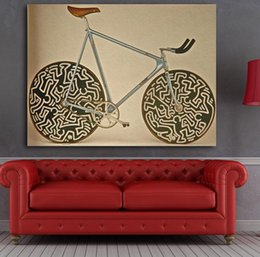 Wholesale famous cartoon paintings - Famous Brand Cinelli Bike Picture Abstract Art Wall Decoration Classical Canvas Printed Paintings For Living Room Wall