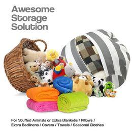 Wholesale Clothing Storage - 45cm Kids Storage Bean Bags Plush Toys Beanbag Chair Bedroom Stuffed Animal Play Room Mats Portable Creative Clothes Storage Tool Organizer