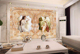 women room paintings Coupons - Fashionable beauty women painting TV wall wall papers home decor living room