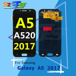 Wholesale Ds Bar - For Samsung Galaxy A5 2017 A520 A520F A520F DS Original LCD Display Touch Screen Digitizer Assembly Free Shipping DHL