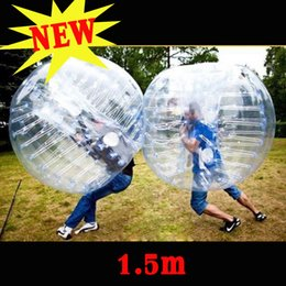 Wholesale Pvc Soccer Ball Football - NEW 1.0M 1.2M 1.5M 1.7M Body Inflatable Gum Bumper Football Zorb Ball Human Bubble Soccer Outdoor Team Toy gife Clear
