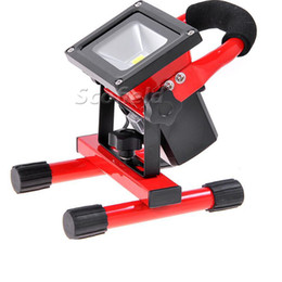 Wholesale Work Light Flood - 2017 10W Red,green,blue LED Rechargeable Flood Light can work 5hours outdoor lighting portable light rechargeable lamp emergency light