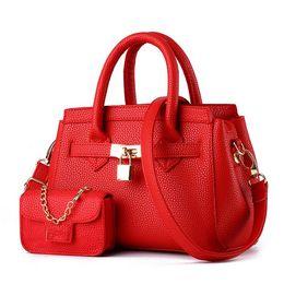 Wholesale Handbag Button Bag - 2017 designer famous brands Ladies Handbags Totes with Shoulder Plain Zipper Closure Luxury Handbags for Women Bags handbag+Coin Purse