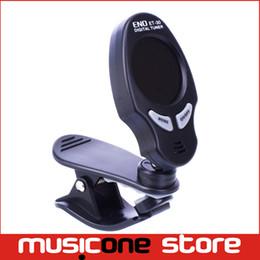 Wholesale Digital Clip Tuner - Free Shipping ENO ET-30 Digital LCD Guitar Bass Violin Clip-on Automatic Chromatic Tuner MU0103
