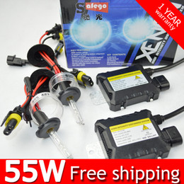 Wholesale xenon bulbs h7 - DC 12V 55W Xenon HID Kit H7 H4 H1 H3 H8 H9 H11 880 9005 9006 4300K 6000K 8000k HID Xenon Bulbs Ballasts