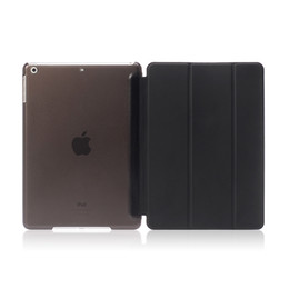 Wholesale One Piece Ipad - For ipad mini case Leather Front Smart Cover+Crystal Back Case one-piece Shell tablet Covers for ipad 2 3 4 ipad air air2 case