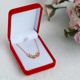 Wholesale Flocking Packing - 12pcs lot Flocking Rectangle 77*56*28cm Ring Box Wedding Jewelry Box Earring Necklace Pendant Bracelet Casket Packing Hj014