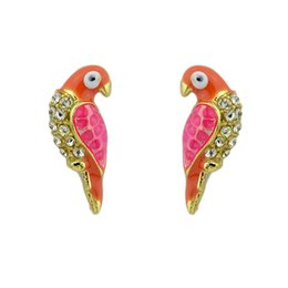 Wholesale Piercing Cartilage - Cartilage Earring Punk Style Exaggerated Gold Color Bird Shape Piercing Stud Earrings For Women