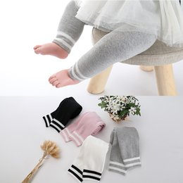 Wholesale thickening pantyhose - Baby Leggings Children's Pantyhose Pure Cotton Thicken Heat Preservation Stripe Baby Trousers Spring Autumn Leggings Tights