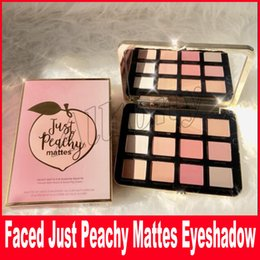Wholesale Eye Glitter Eyeshadow - Newest Just Peachy Mattes Eyeshadow Palette Sweet Peach Blush Glow Kit Retail Matte And Glitter Finish Free Shipping Eye Shadow Palette