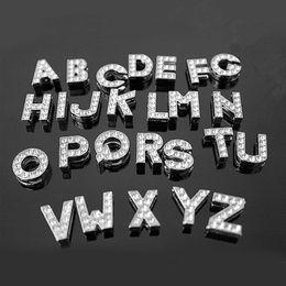 Wholesale Slide Personalize Dog Collars Wholesale - 10mm Crystal Block Slide Letter A-Z!Number 0-9! Personalized DIY Name Slide Letters for Dog Pet Collar Pet Product