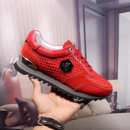 2019 s m мужчина мужские кроссовки мода змея весы линии дизайнер обувь 5 Цвет люксовый бренд мужская обувь размер 38-44 модель 219516817 дешево s m мужчина