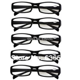 5 paia di occhiali da lettura durevoli infrangibili neri o in tartaruga da uomo Occhiali da vista a vita lunga con lenti a lente da 1,00 a +4,0 da occhiali trasparenti in plastica trasparente fornitori
