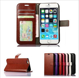 Wholesale Id Holder Flip Wallet - For iPhone 6 4.7 Plus 5.5 4S 5S Vintage Retro Flip Stand Wallet Leather Case With Photo Frame ID Card Holder