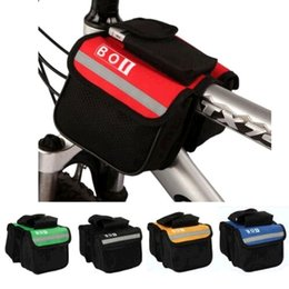 Wholesale Double Pannier Bag - 2016 New ROSWHEEL Waterproof Outdoor Sports Cycling Frame Bags MTB Bags Panniers Accessorie Bicycle Front Tube Double-Saddle Bag