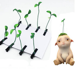 Wholesale Planting Bean Sprouts - new Novelty Plants grass hair clips headwear Small bud antenna hairpins Lucky grass bean sprout mushroom party hair pin HD3401-1