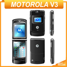 Wholesale V3 Camera - Free Shipping Unlocked Original Motorola V3 V3i Mobile Phone Refurbished Cellphone Russian&Arabic&Hebrew keyboard Suppoted