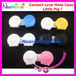 Wholesale Pig Contact Lens Case - Wholesale-100 pcs Free Shipping C310 Little Pig design contact lens case contact lenses case