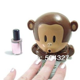Wholesale Nails Monkeys - Free Shipping 1Piece Monkey Dryer Blower Portable Blowing Nails Dryer Fingernail Dryer Nail Salons Stoving Implement